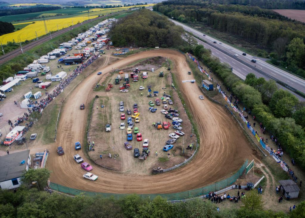 06.05.2017, Hünfelden-Dauborn, 38. Dauborner Autocross - Samstag Luftaufnahmen